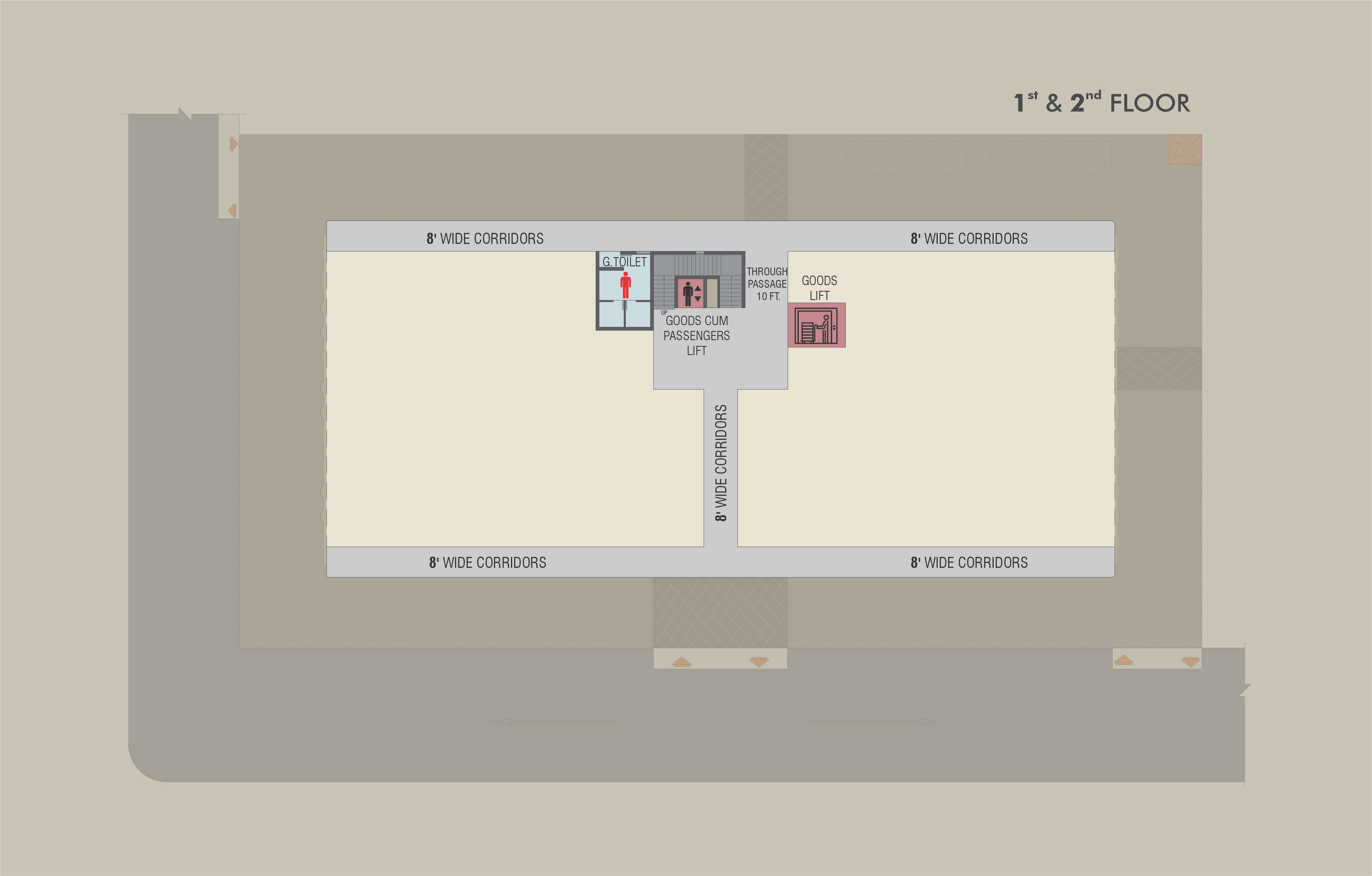 First & Second Floor Map
